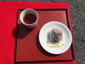 桜餅番茶セット