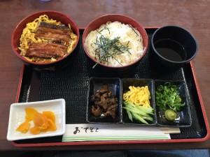 おすすめセット+穴子丼と素麵