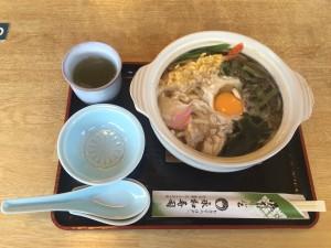 永和寿司の鍋焼きうどん